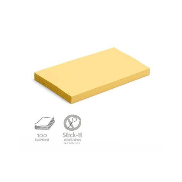 Stick-It Öntapadós 14,9 x 20,7 cm nagy téglalap moderációs kártya 100 db sárga
