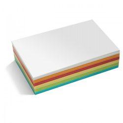 Téglalap Stick-it moderációs kártya 300 db /csomag nagy, vegyes szín