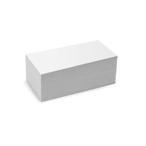 Téglalap Pin-It 9,5x20,5 cm moderációs kártya fehér 500 db