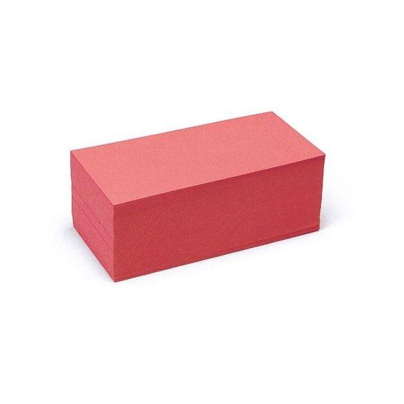 Téglalap Pin-It 9,5x20,5 cm moderációs kártya piros 500 db