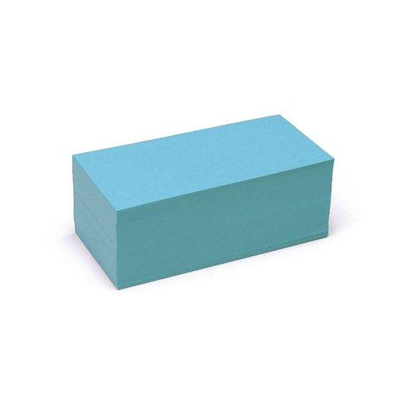 Téglalap Pin-It 9,5x20,5 cm moderációs kártya kék 500 db