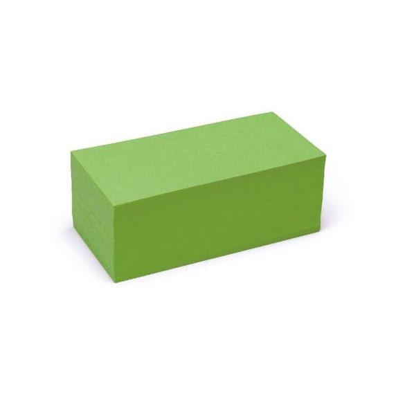 Téglalap Pin-It 9,5x20,5 cm moderációs kártya zöld 500 db