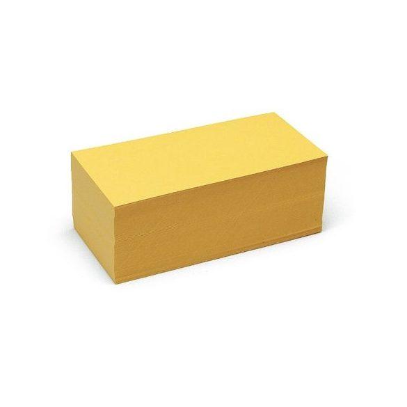 Téglalap Pin-It 9,5x20,5 cm moderációs kártya sárga 500 db