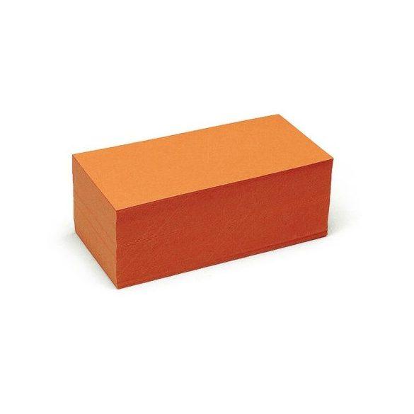 Téglalap Pin-It 9,5x20,5 cm moderációs kártya narancs 500 db