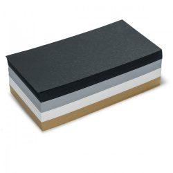 Téglalap  Pin-It 9,5x20,5 cm moderációs kártya 500 db - fekete/bézs/szürke/fehér