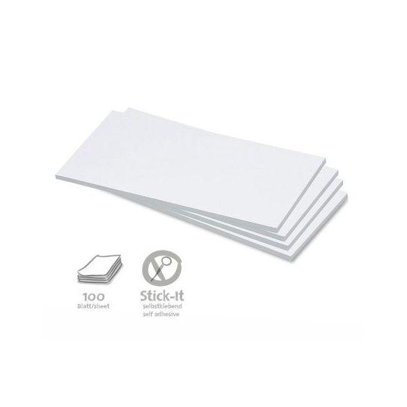 Stick-It Téglalap öntapadós 9,5x20,5 cm moderációs kártya 100 db fehér