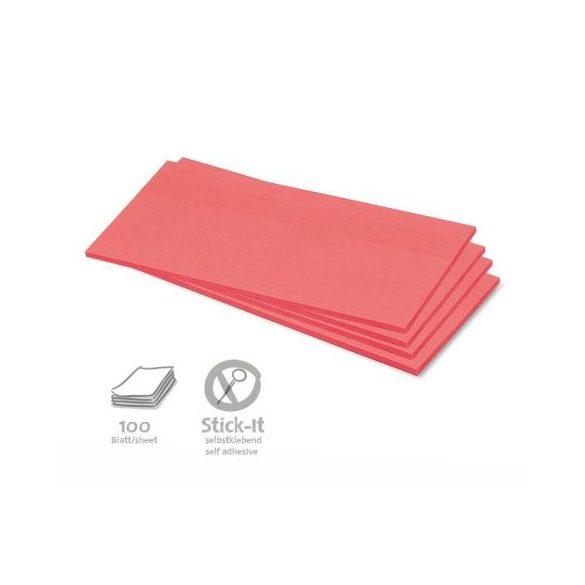 Stick-It Téglalap öntapadós 9,5x20,5 cm moderációs kártya 100 db piros