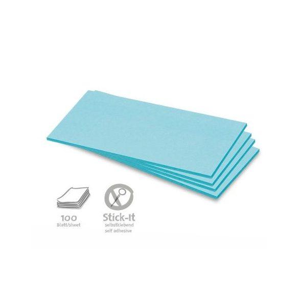 Stick-It Téglalap öntapadós 9,5x20,5 cm moderációs kártya 100 db kék