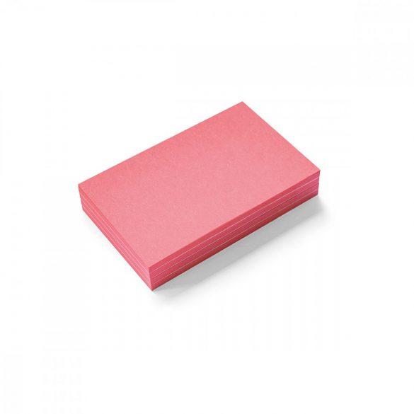 Stick-It Mini Téglalap öntapadós moderációs kártya 100 db piros