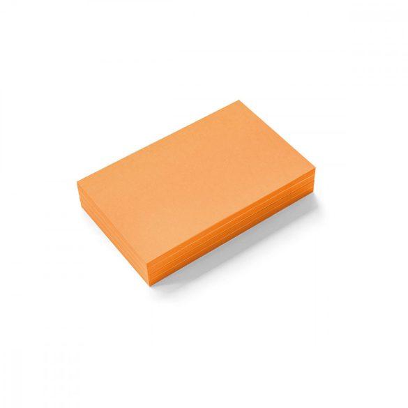 Stick-It Mini Téglalap öntapadós moderációs kártya 100 db narancssárga