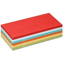 300 Rectangular Stick-It Cards, assorted colours