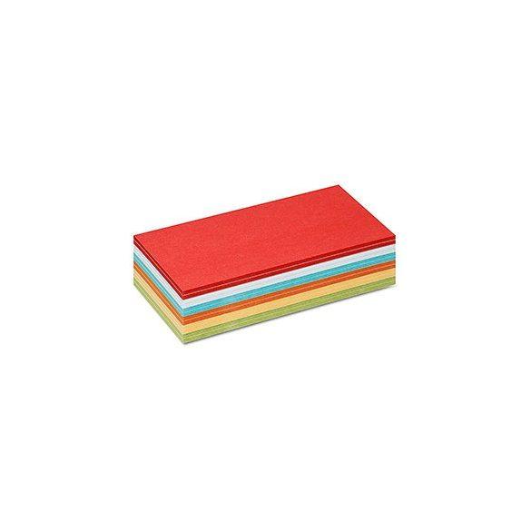 Stick-It Téglalap öntapadós 9,5x20,5 cm moderációs kártya 300 db vegyes