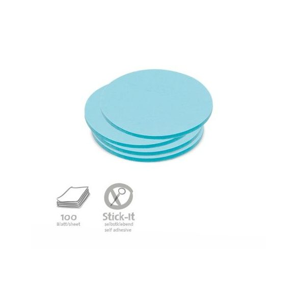 100 Small Circular Stick-It Cards, blue