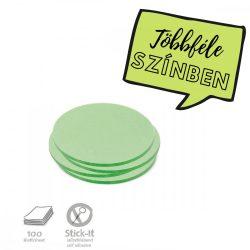 Stick-It Kiskör 9,5 cm öntapadós moderációs kártya 100 db zöld