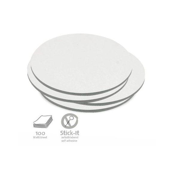 100 Medium Circular Stick-It Cards, white
