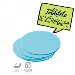Stick-It Közepes kör 14 cm öntapadós moderációs kártya 100 db kék