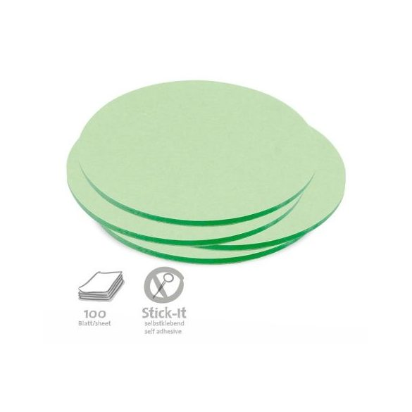 100 Medium Circular Stick-It Cards, green