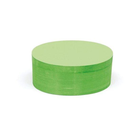 Ovális Pin-It 9,5x20,5 cm moderációs kártya 500 db zöld