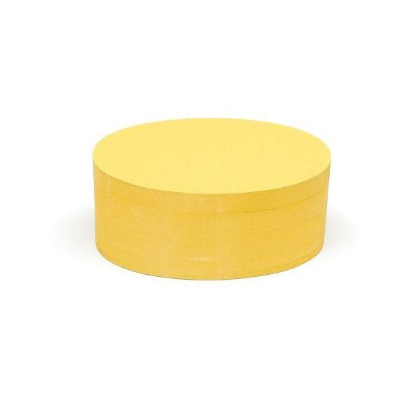 Ovális Pin-It 9,5x20,5 cm moderációs kártya 500 db sárga