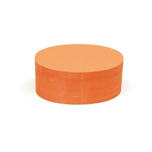 Ovális 9,5x20,5 cm moderációs kártya 500 db narancs