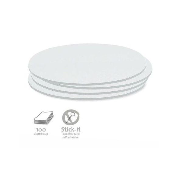 Stick-It Ovális 9,5x20,5 cm öntapadós moderációs kártya 100 db fehér