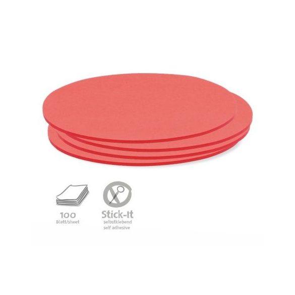 Stick-It Ovális 9,5x20,5 cm öntapadós moderációs kártya 100 db piros