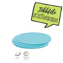 Stick-It Ovális 9,5x20,5 cm öntapadós moderációs kártya 100 db kék