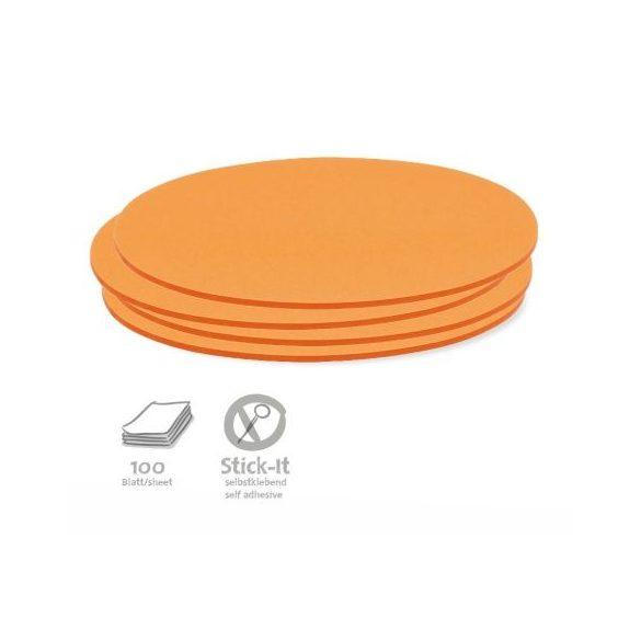 Stick-It Ovális 9,5x20,5 cm öntapadós moderációs kártya 100 db narancs
