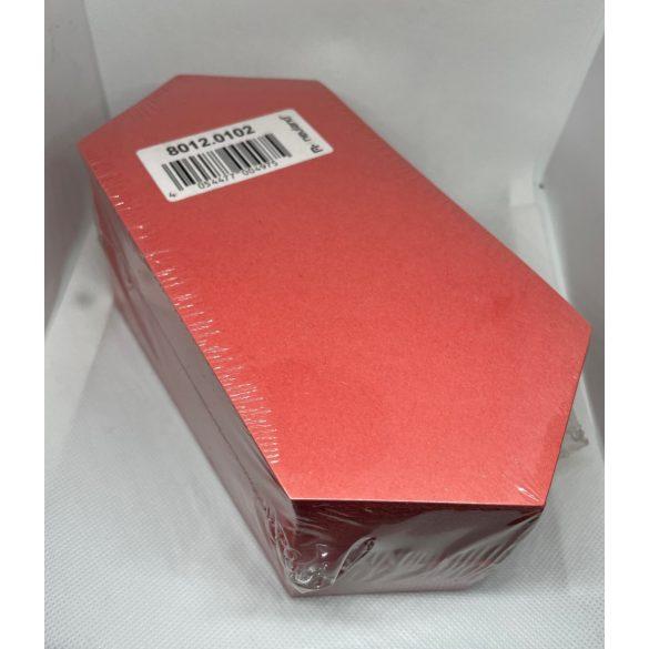 Rombusz Pin-It 9,5x20,5 cm moderációs kártya 500 db piros