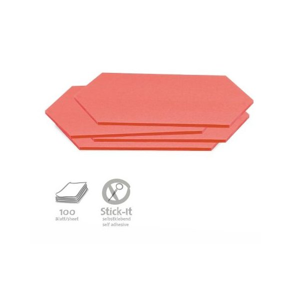 Stick-It Rombusz öntapadós moderációs kártya 100 db piros