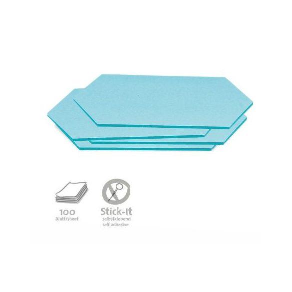 Stick-It Rombusz öntapadós moderációs kártya 100 db kék