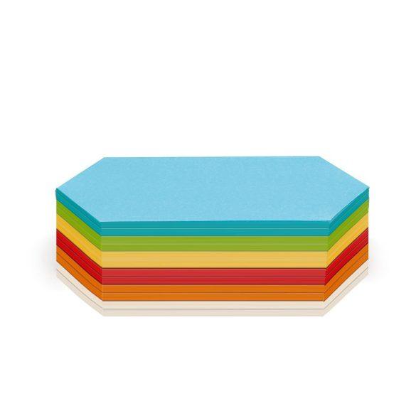 Rombusz Stick-it 9,5x20,5 cm moderációs kártya 300 db vegyes