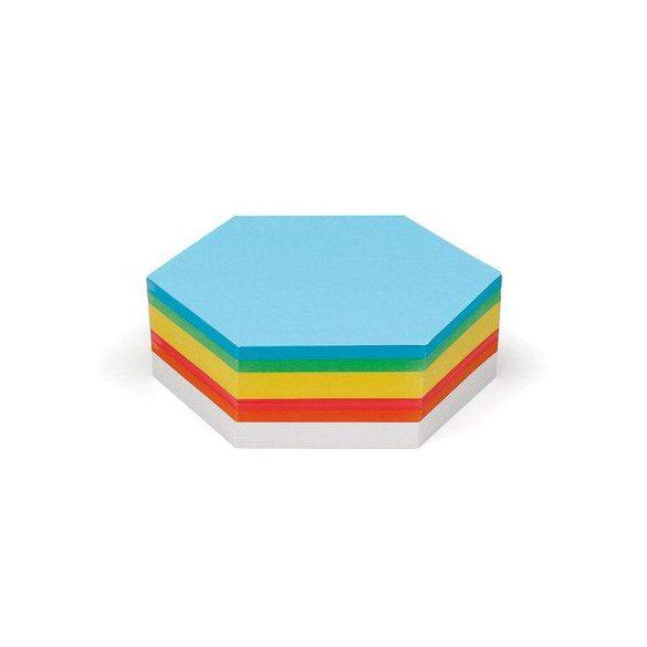 Hatszög Pin-It vegyes színű moderációs kártya 250 db