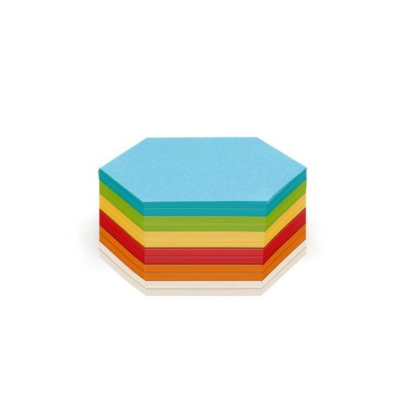 Hatszög Stick-it moderációs kártya 300 db vegyes