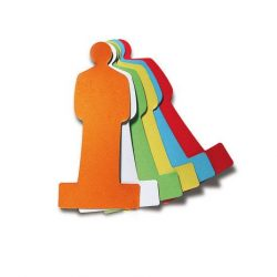 120 People Pin-It Cards, assorted colors