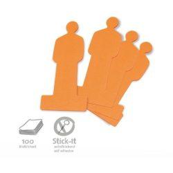 Stick-It Moderációs emberke öntapadós moderációs kártya 100 db narancs