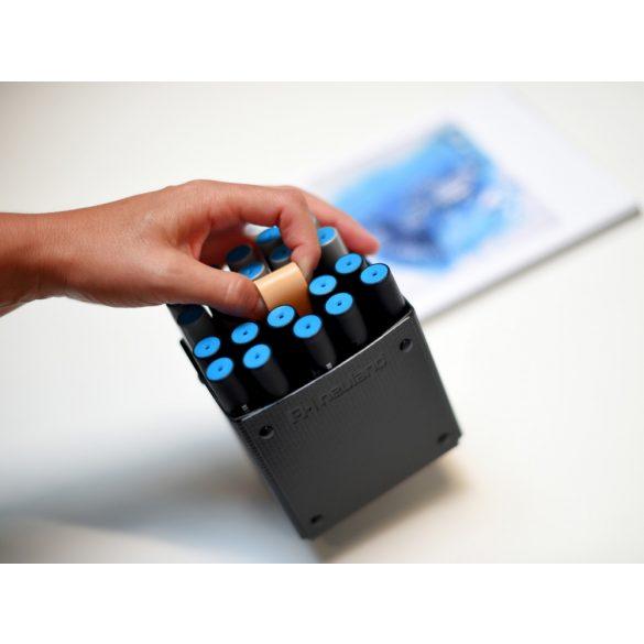 Novario MarkerBox, black tolltartó doboz fekete