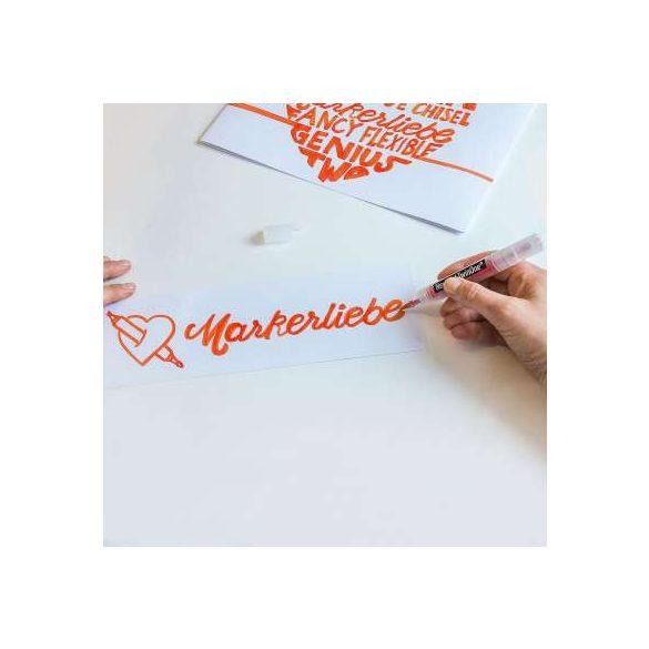 Neuland TwinOne®, vágott és ecsethegyű moderációs marker, pasztellzöld  80410403