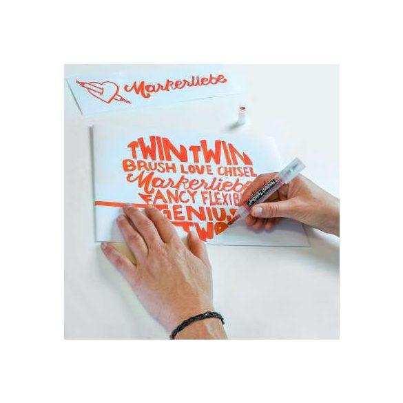 Neuland TwinOne®, vágott és ecsethegyű moderációs marker, pasztellsárga  80410502