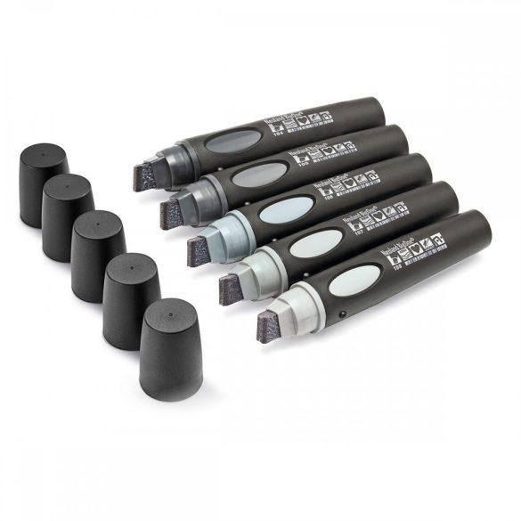 Neuland BigOne®, vágott hegyű 6-12 mm, 5 db/szett - No. 7 Tones of Grey - 80422194
