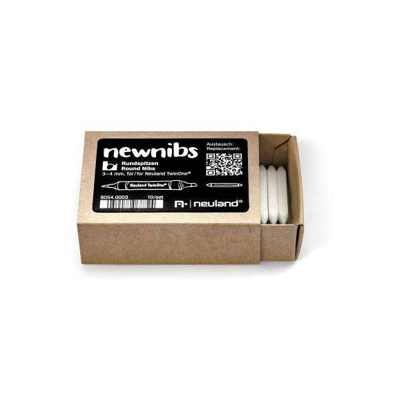 Cserélhető kerek hegy Neuland TwinOne® filctollakhoz - 10-es szett