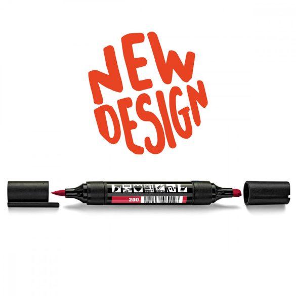Neuland TwinOne®, vágott és ecsethegyű moderációs marker, piros 80540200