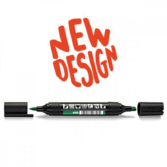 Neuland TwinOne®, vágott és ecsethegyű moderációs marker, zöld 80540400