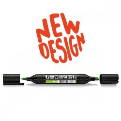 Neuland TwinOne®, vágott és ecsethegyű moderációs marker, világoszöld 80540401