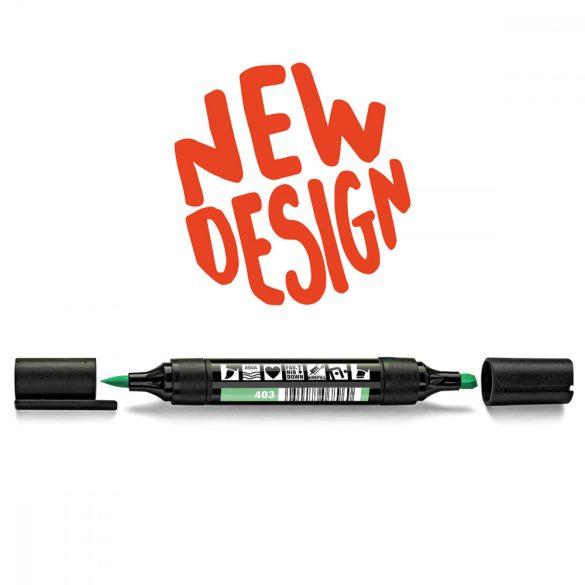 Neuland TwinOne®, vágott és ecsethegyű moderációs marker, pasztellzöld 80540403