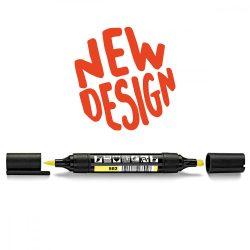 Neuland TwinOne®, vágott és ecsethegyű moderációs marker, pasztellsárga 80540502