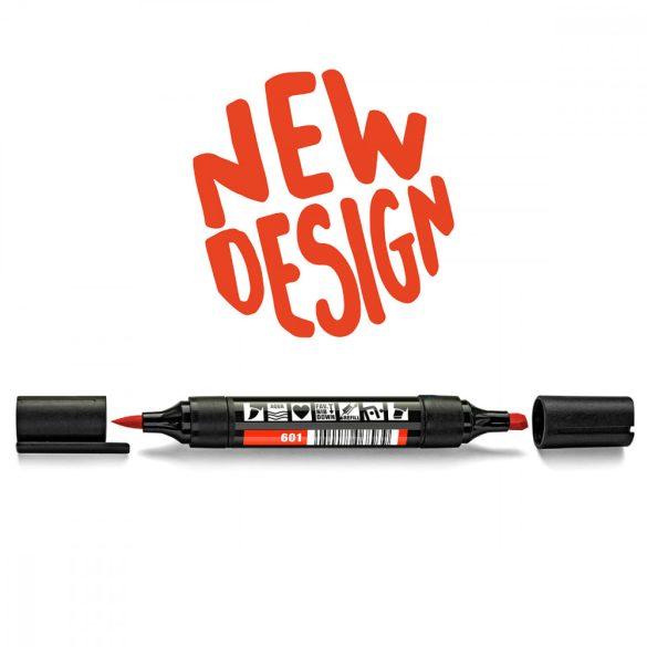 Neuland TwinOne®, vágott és ecsethegyű moderációs marker, vérnarancs 80540601