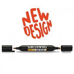 Neuland TwinOne®, vágott és ecsethegyű moderációs marker, aranyokker 80540801