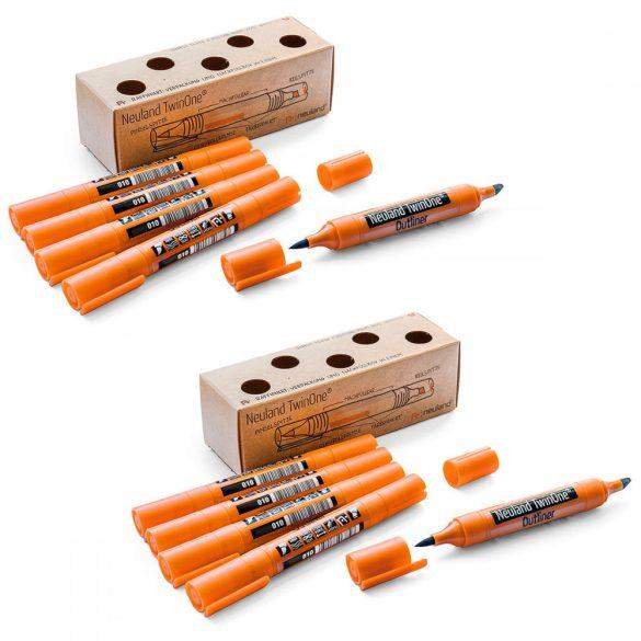 Neuland TwinOne® Outliner, vágott- és ecsethegyű, 10 db/szett  U5 - kontúrfilc
