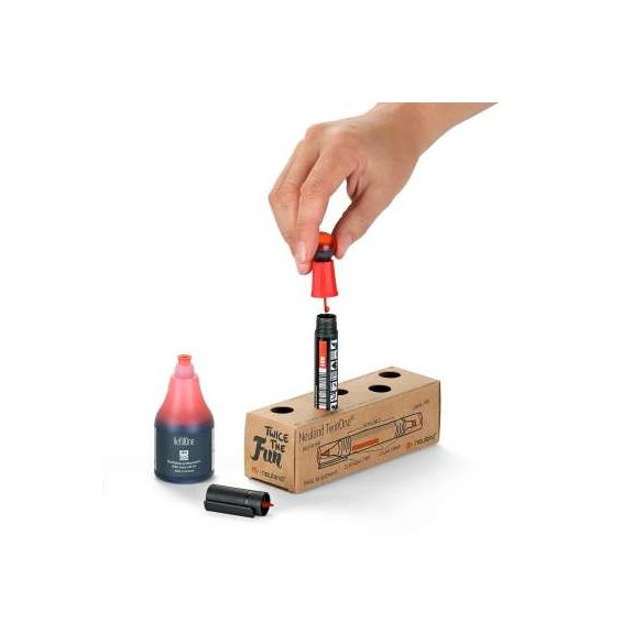 Neuland TwinOne®, vágott- és ecsethegyű, 5 db/szett - Piros